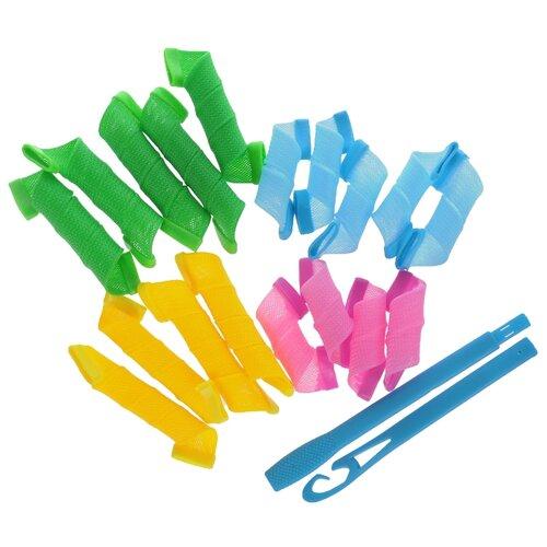 Гибкие бигуди Silva Волшебные локоны (20 мм) зеленый/голубой/желтый/розовый
