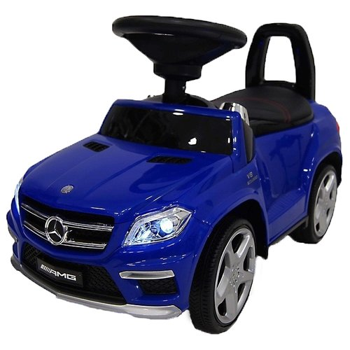 Купить Каталка-толокар RiverToys Mercedes-Benz A888AA со звуковыми эффектами синий, Каталки и качалки