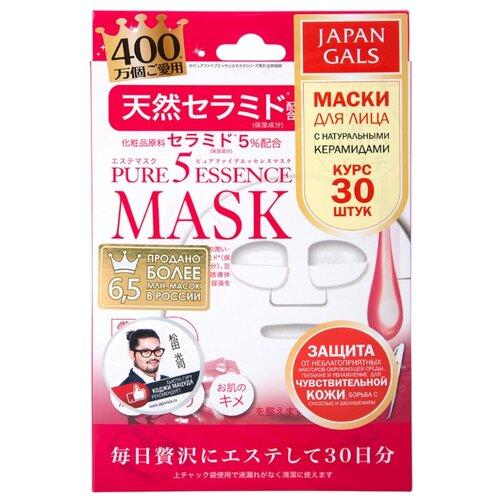 Japan Gals маска Pure 5 Essence с натуральными керамидами, 30 шт.