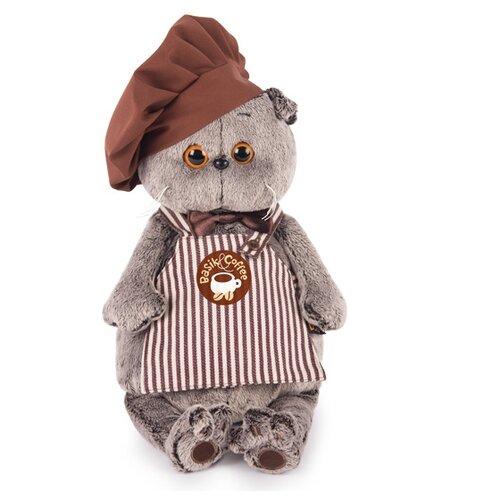 Купить Мягкая игрушка Basik&Co Кот Басик бариста 22 см, Мягкие игрушки