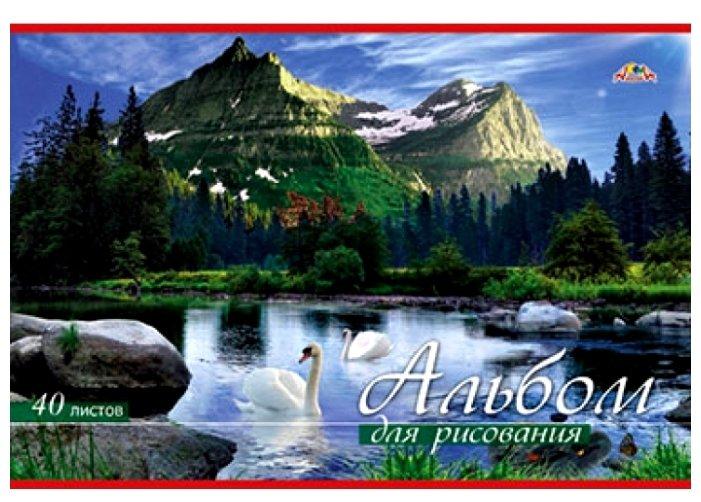 Альбом для рисования Апплика Озеро 29.7 х 21 см (A4), 100 г/м², 40 л.