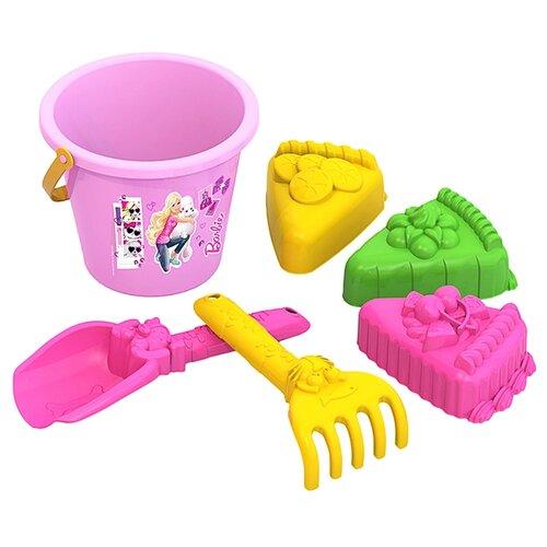 Купить Набор Нордпласт 431842 Барби №7 розовый/желтый/зеленый, Наборы в песочницу