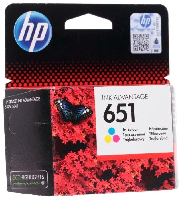 Картридж HP 651 C2P11AE Tri-colour для Deskjet Ink Advantage 5575/5645