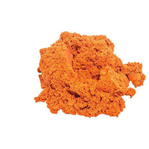 Кинетический песок LORI Домашняя песочница, оранжевый, 0.7 кг, пластиковый контейнер