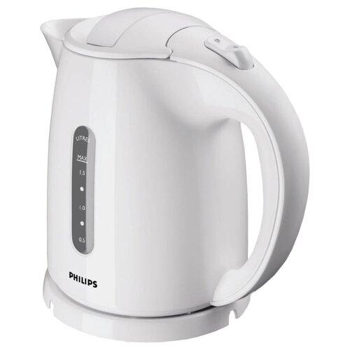 Чайник Philips HD4646/00, белый чайник philips hd4646 40 2400 вт белый красный 1 5 л пластик