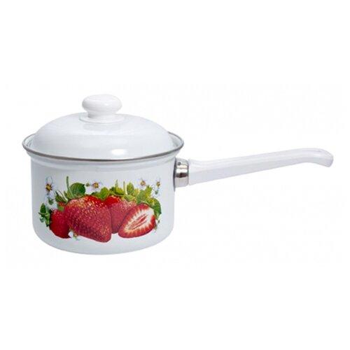 Ковш Лысьвенский завод эмалированной посуды С-1608АП/4, 1.5 л, сочная клубника
