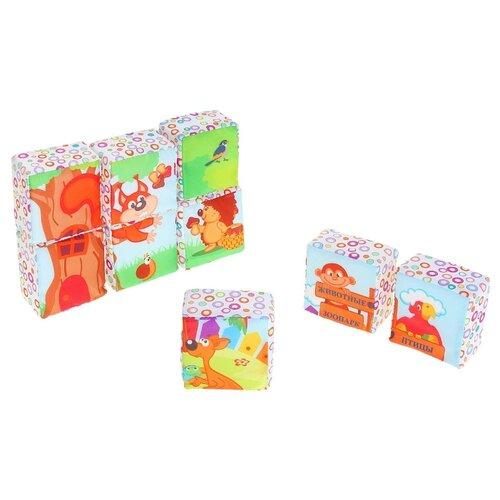 Купить Кубики-пазлы Дельфин Зоопарк Д-305-15, Детские кубики