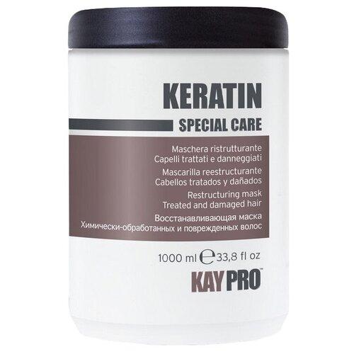 Фото - KayPro Keratin Маска для волос с кератином, 1000 мл kaypro tecni sleek выпрямляющий крем для волос с кератином шаг 2 1000 мл
