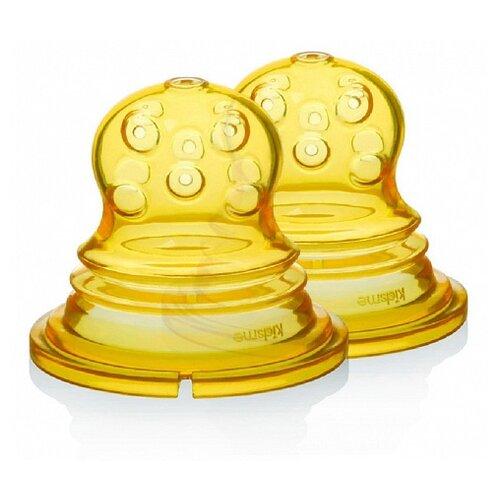 Kidsme Сменные насадки для ниблера Food Squeezer с круглыми отверстиями, с 4 месяцев, желтый