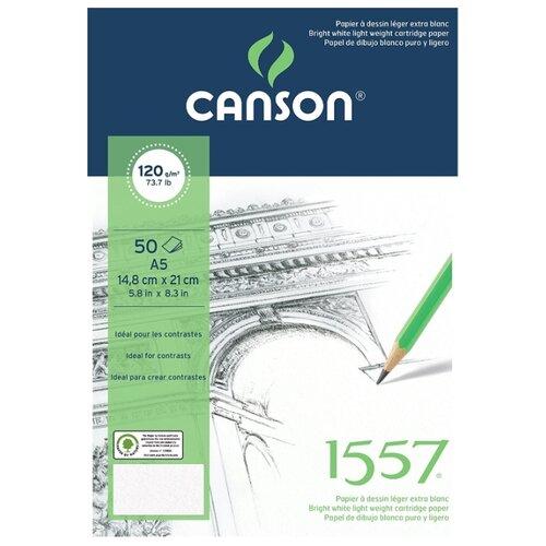 Купить Альбом Canson 1557 21 х 14.8 см (A5), 120 г/м², 50 л., Альбомы для рисования