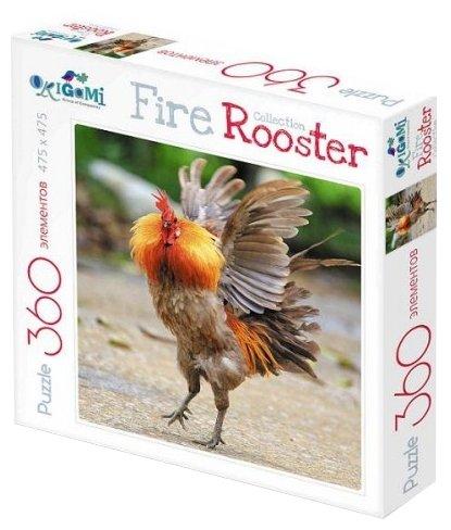 Пазл Origami Fire Rooster Бойцовый петух (02628), 360 дет.