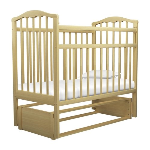 детские кроватки агат золушка 6 маятник продольный с ящиком Кроватка Агат Золушка-5 (классическая), продольный маятник светлая
