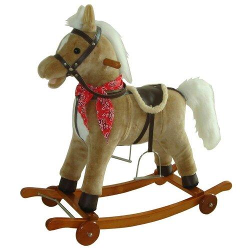 Каталка-качалка Shantou Gepai Лошадка (61053) со звуковыми эффектами бежевый/коричневый каталка качалка r toys лошадка трансформер пластик от 8 месяцев белый 5570 ор146