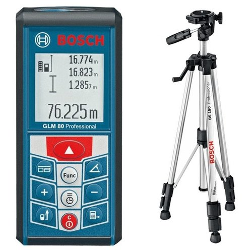 Лазерный дальномер BOSCH GLM 80 + BS 150 Professional лазерный дальномер bosch glm 80 r60 0601072301