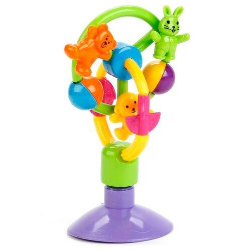 Погремушка Умка Веселые зверята TY9027-R разноцветный умка раскраска волшебные зверята