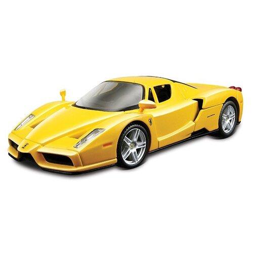 Купить Легковой автомобиль Bburago Ferrari Enzo (18-26006) 1:24 желтый, Машинки и техника