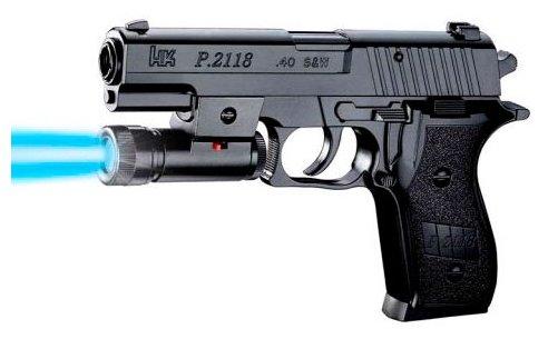 Пистолет Shantou Gepai пистолет (П) С фонарем, С пульками P2118-C черный