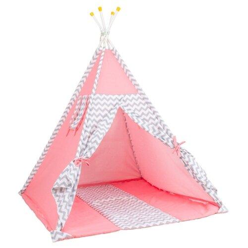 Купить Палатка Polini Зигзаг розовый, Игровые домики и палатки