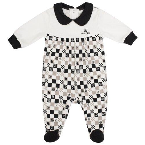 Купить Комбинезон lucky child размер 26 (80-86), молочный, Комбинезоны