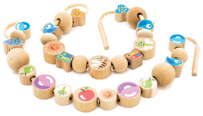Шнуровка Игрушки из дерева Ассорти (Д415)