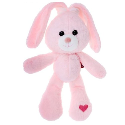 Мягкая игрушка Fancy Зайчик Беня розовый 28 см