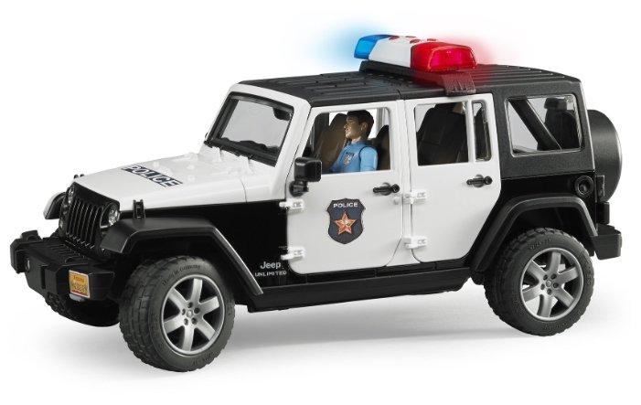 Внедорожник Bruder Jeep Wrangler Unlimited Rubicon Полиция, с фигуркой (02-526) 1 16 31 см