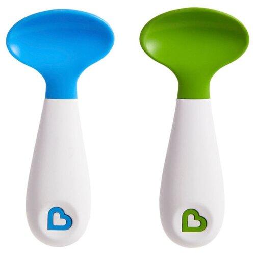 Набор ложек Munchkin Scooper синий/зеленыйСтоловые приборы<br>
