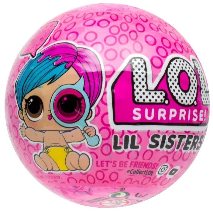 Кукла-сюрприз MGA Entertainment в шаре LOL Surprise 4 Wave 2 Decoder Lil Sisters, 4 см, в ассортименте