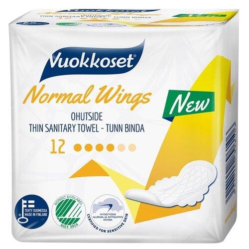 Купить Vuokkoset прокладки Normal Wings, 4 капли, 12 шт.
