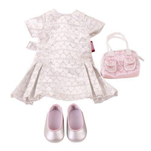 Купить Gotz Платье с аксессуарами Amelie для кукол 45-50 см 3402299 розовый/серебристый, Одежда для кукол