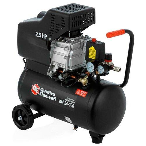 Фото - Компрессор масляный Quattro Elementi KM 24-200, 24 л, 1.5 кВт компрессор масляный fubag b5200b 200 ct4 200 л 3 квт