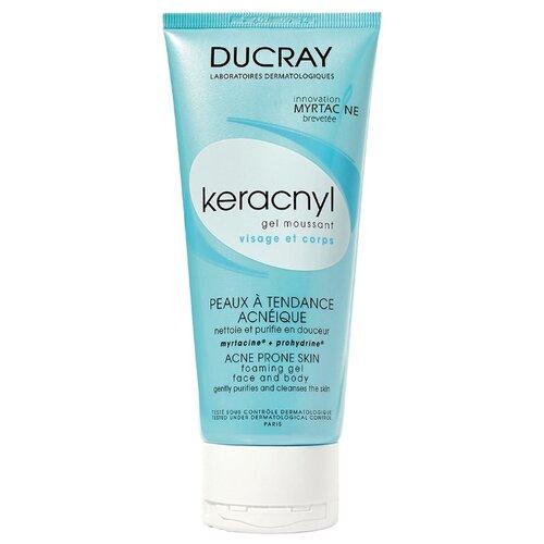 цена на Ducray Keracnyl Очищающий гель Gel Moussant, 200 мл