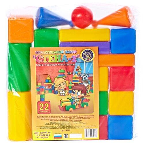 Купить Кубики Строим вместе счастливое детство Стена-2 5245, Детские кубики