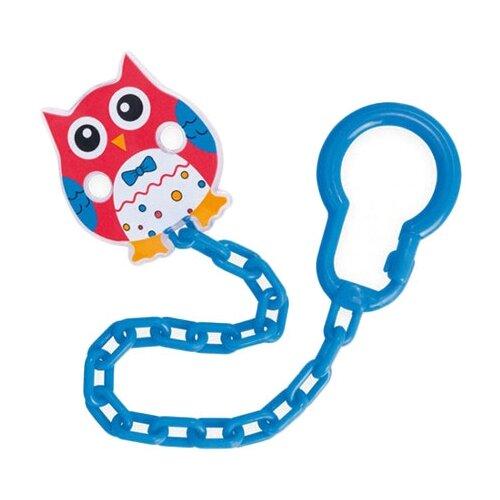 Купить Держатель пустышки Canpol Babies Owls 0 м (1 шт.) красный/синий, Пустышки и аксессуары