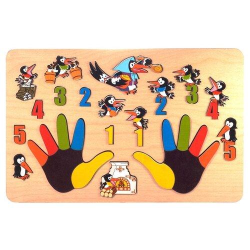 Рамка-вкладыш Нескучные игры Сорока-белобока (7916), 33 дет. рамка вкладыш нескучные игры больше меньше геометрия