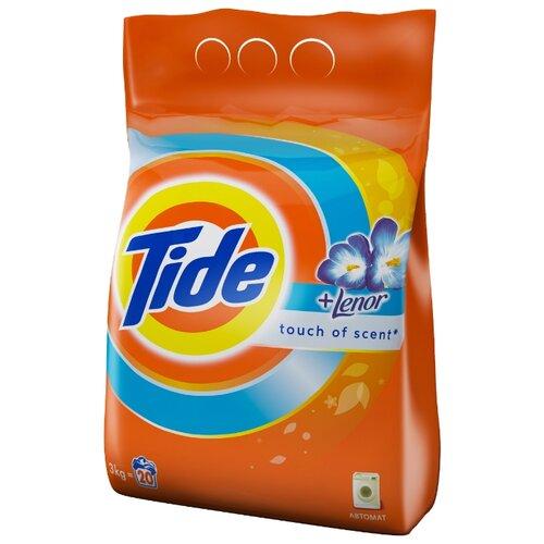 Стиральный порошок Tide Lenor Touch of Scent (автомат) 3 кг пластиковый пакет порошок стир tide lenor лаванда автомат 4 5кг