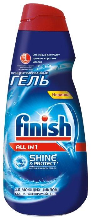 Гель для мытья посуды Finish All in 1 Max