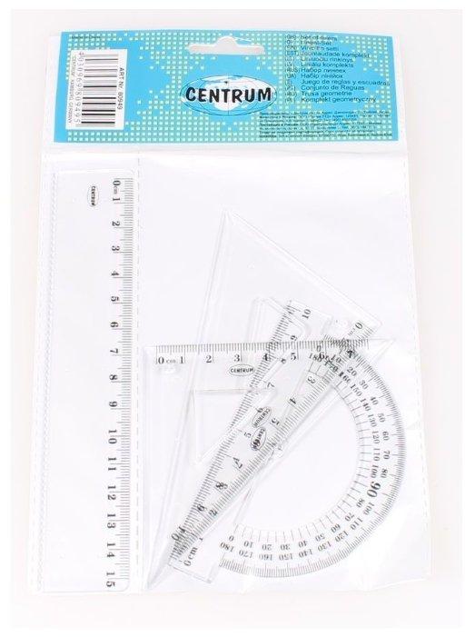CENTRUM Набор линеек пластиковых 3 шт (80949)