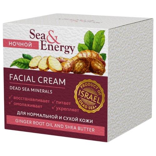 Фото - Sea & Energy Крем-лифтинг ночной для нормальной и сухой кожи лица с масляным экстрактом корня имбиря и маслом ши, 50 мл кора крем для сухой кожи лица с маслом аргана 50 мл