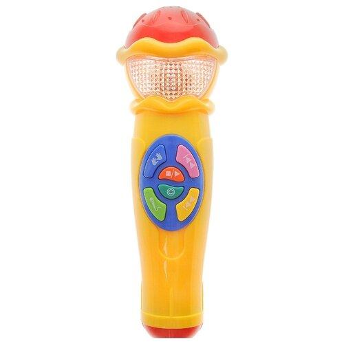 Купить Умка микрофон A848-H05031-R3 желтый, Детские музыкальные инструменты