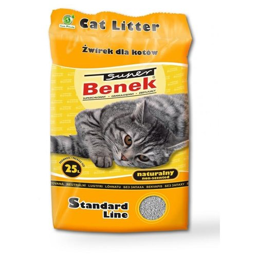 Комкующийся наполнитель Super Benek Натуральный 25 л комкующийся наполнитель super benek компакт натуральный 5 л