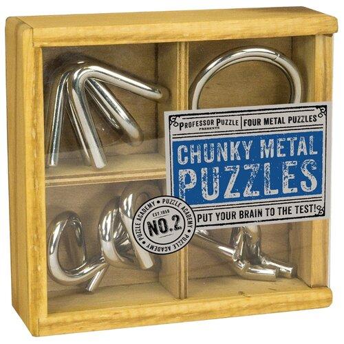 Набор головоломок Professor Puzzle Puzzle Academy Set of 4 Chunky Metal Puzzles (PA1485) 4 шт. стальнойГоловоломки<br>