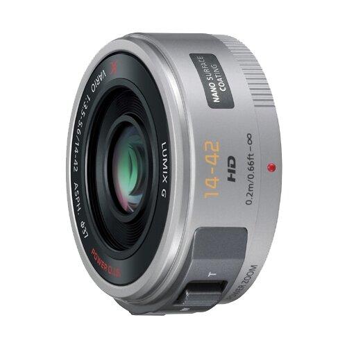 Фото - Объектив Panasonic 14-42mm f/3.5-5.6 Aspherical Power O.I.S. Lumix G X Vario (H-PS14042) серебристый объектив panasonic lumix h f008e g fisheye 8mm f3 5