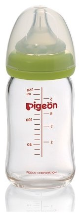 Pigeon Бутылочка Перистальтик Плюс премиальное стекло, 160 мл с рождения