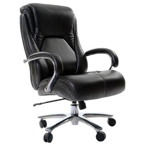 Фото - Компьютерное кресло Chairman 402 для руководителя, обивка: искусственная кожа, цвет: черный компьютерное кресло chairman 668 lt для руководителя обивка искусственная кожа цвет черный бежевый