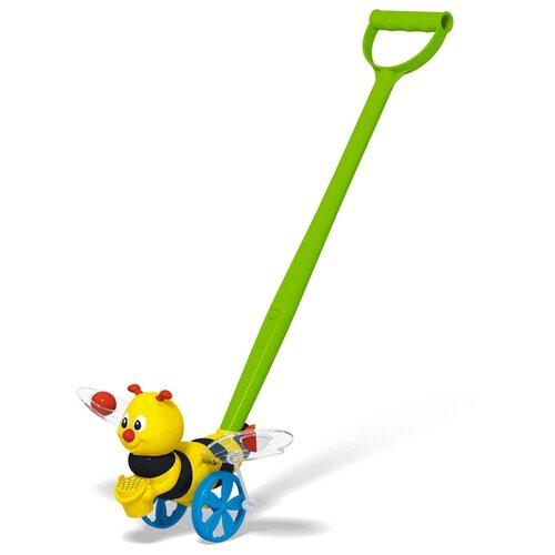 Купить Каталка-игрушка Stellar Пчёлка (01396) со звуковыми эффектами желтый/черный/зеленый/голубой, Каталки и качалки