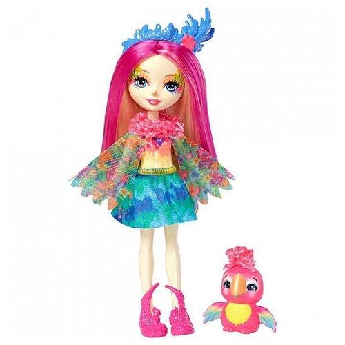 Купить Кукла Enchantimals Пикки Какаду с любимой зверюшкой, 15 см, FJJ21, Куклы и пупсы