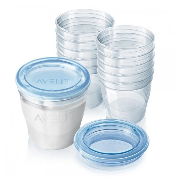 Philips AVENT Контейнеры для хранения грудного молока 180 мл (SCF612)