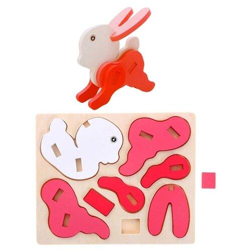 Купить 3D-пазл Kribly Boo Зверята Заяц (66477), 8 дет., Пазлы