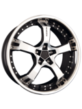 Диск TG Racing Keskin KT10 Humerus 8.5x18/5x112 D72.6 ET40 Matt Black Pol/steel Lip - фото 1